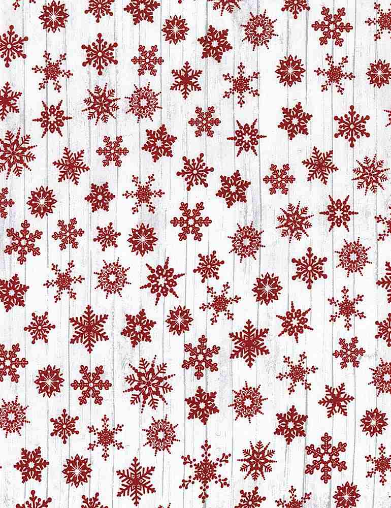 Snow Flakes Holiday - Fabric by the Metre - The Artisans Gifting Company