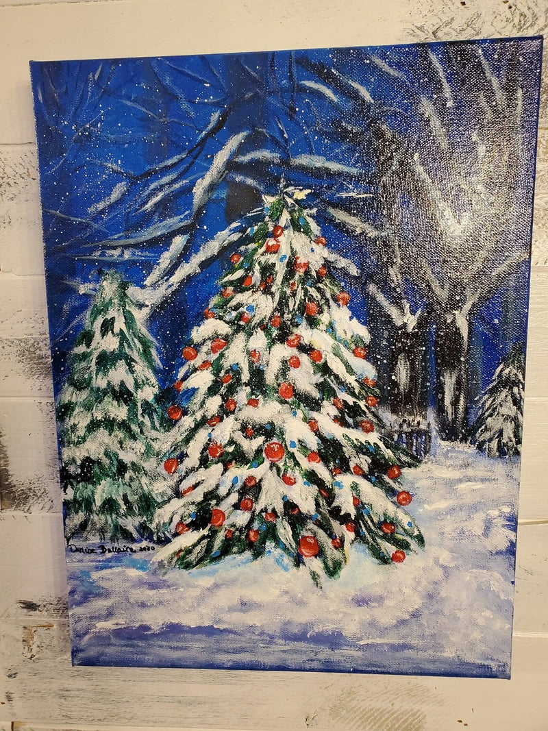 The Artisans Gifting Company Painting Art Work - Snowy Christmas