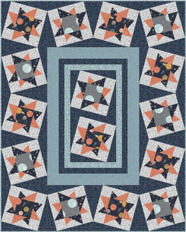 To The Moon and Back Free Downloadable Quilt Pattern - The Artisans Gifting Company