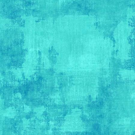 Turquoise Dry Brush Fabric by the Metre - The Artisans Gifting Company /Quilts