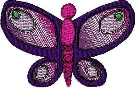 Multi-Color Butterfly 2 Machine Embroidery Design - The Artisans Gifting Company