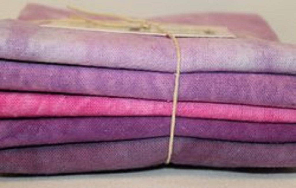 Fiber on a Whim Hand Dyed Osnaburg Fat Quarter 5 Pack - Perry Patch - The Artisans Gifting Company