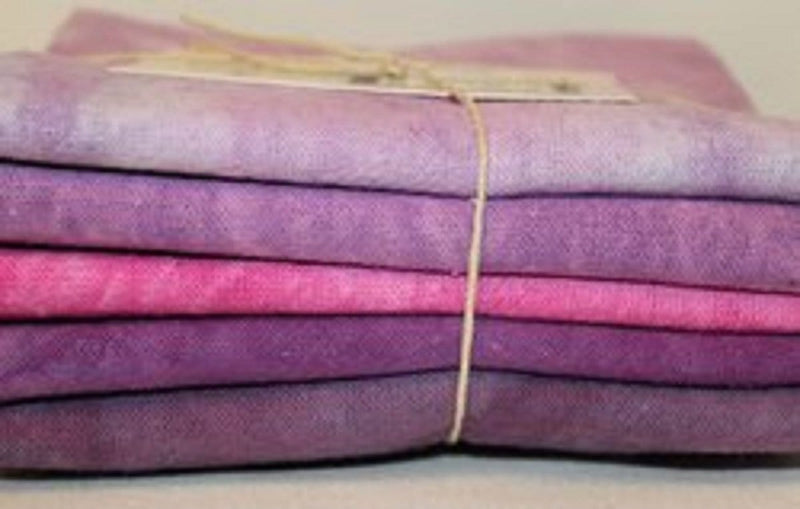 Fiber-on-a-Whim Fat Quarter Bundles Fiber on a Whim Hand Dyed Osnaburg Fat Quarter 5 Pack - Berry Patch