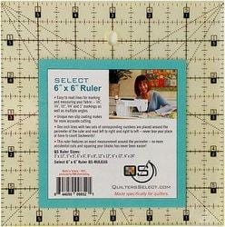 "Quilter's Select Non-Slip 6"" x 6"" Ruler - The Artisans Gifting Company /Quilts"