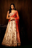 Cream-Mulberry-Silk-Traditional-Party-Wear--Lehenga-Choli