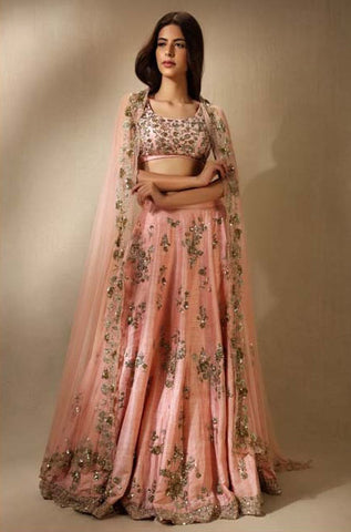 each-Orange-Mulberry-Silk-Traditional-Party-Wear-Occasionally-Lehenga-Choli
