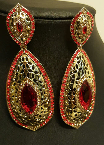Red and Golden earings