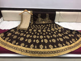 Brown Silk-Designer-Indian-Bride-Wedding-Wear-Lehenga