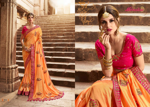 Yellow Color Designer Saree with Designer Blouse