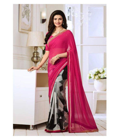 SareeShop Designer SareeS Multicoloured Chiffon Saree
