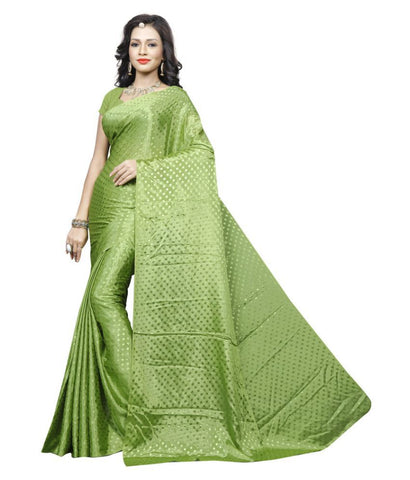 Sonika Green Art Silk Saree