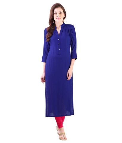 SUKANYAA SUKANYAA Blue Cotton Kurti