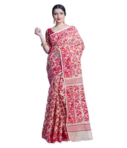 Upama Multicoloured Jamdani Saree