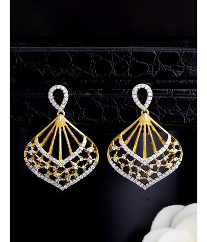 Voylla Blooming Dales Drop Earrings with Gold Plating