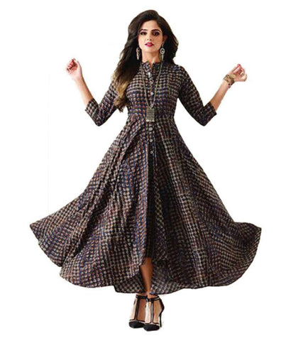 WORLDWIDE FASHION Multicoloured Cotton Anarkali Kurti