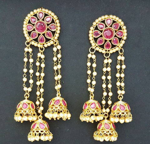 Pink Crystal and Pearls Earrings - NO STOCK