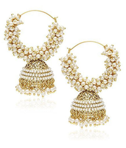 YouBella American Diamond Gold Plated Jhumki