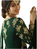 Vaidehi Fashion Georgette Embroidered Semi-stitched Salwar Suit Dupatta Material