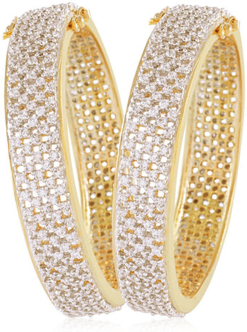 Jewels Galaxy Alloy Bangle Set  (Pack of 2)