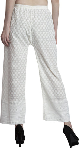 ENTIRE Relaxed Women White Trousers