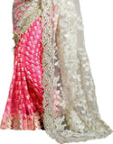 IndianEfashion Self Design, Embroidered Bollywood Georgette, Net Saree  (Pink)
