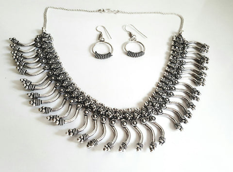 Oxidised - Necklace Set