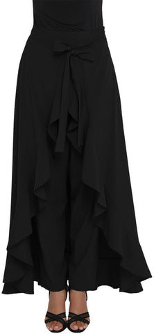 Clemente Solid Women's Layered Black Skirt