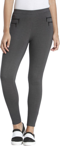 Only Legging  (Grey, Solid)