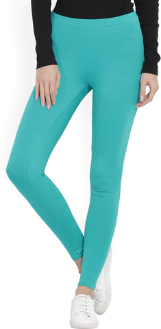 W Legging  (Green, Solid)