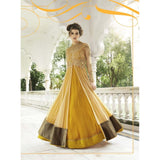 Yellow Net and Georgette Designer Anarkali suit