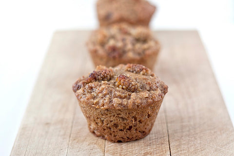 pear mulberry muffins