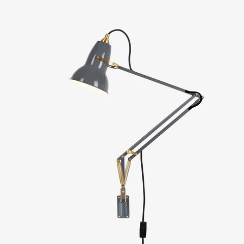 Anglepoise Original 1227 Brass Wall Mounted Lamp Elephant Grey