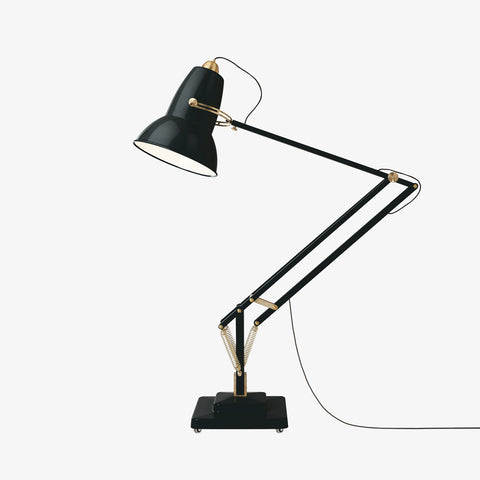 Anglepoise Original 1227 Giant Brass Floor Lamp Deep Slate 2