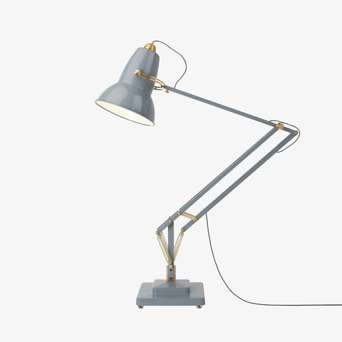 Anglepoise Original 1227 Giant Brass Floor Lamp Elephant Grey 2