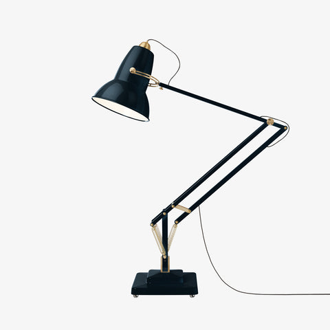 Anglepoise Original 1227 Giant Brass Floor Lamp Ink Blue