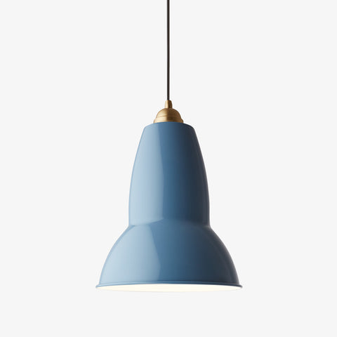 Anglepoise Original 1227 Brass Maxi Pendant Dusty Blue