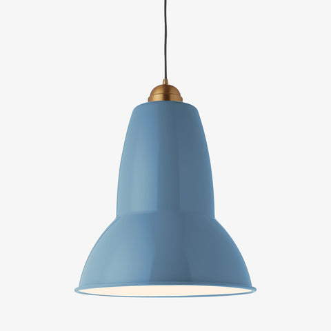 Anglepoise Original 1227 Giant Brass Pendant Dusty Blue