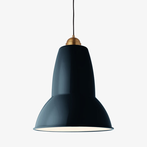 Anglepoise Original 1227 Giant Brass Pendant Ink Blue