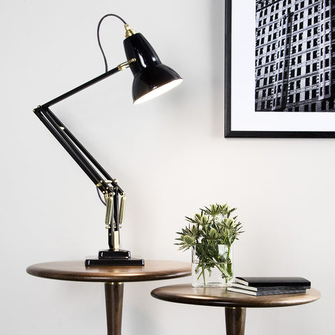 Anglepoise Original 1227 Brass Desk Lamp Deep Slate 3