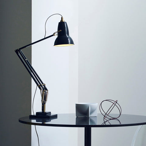 Anglepoise Original 1227 Brass Desk Lamp Deep Slate 2
