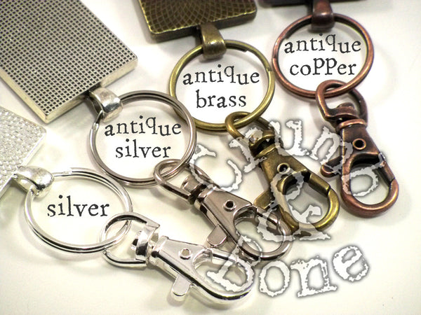 Cat Memorial Keychain Hardware Colors - Crumb & Bone