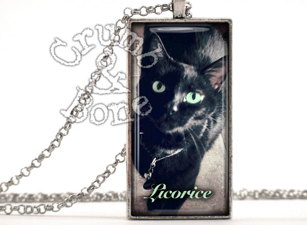 Cat Memorial Necklace with Custom Text - Crumb & Bone