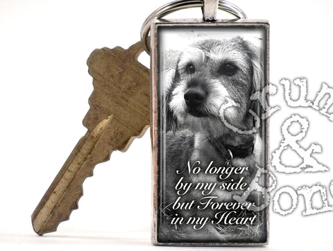 Dog Memorial Keychain in Ant. Silver - Crumb & Bone