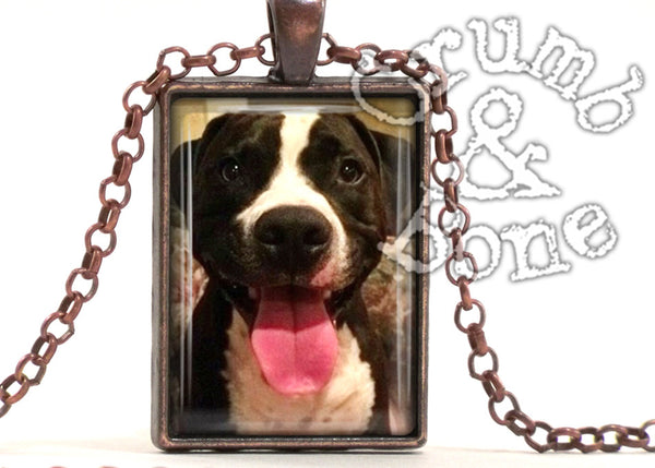 Dog Memorial Necklace in Copper - Crumb & Bone