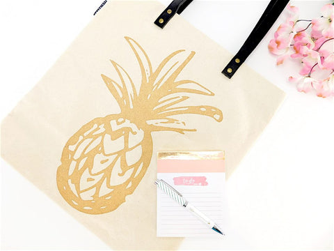 PINEAPPLE SHOPPER TOTE BAG