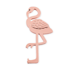 rose gold bottle opener Flamingo
