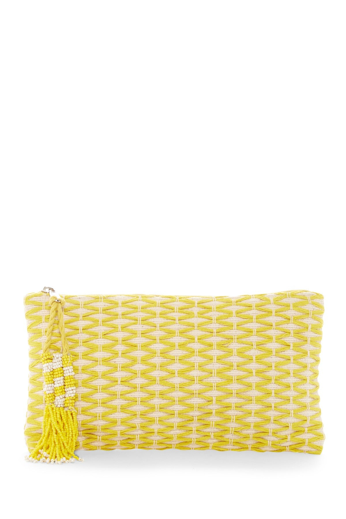 Nora Cotton Woven Clutch - Tulle and Twig