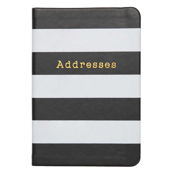 Black And White Bold Stripe Address book - Tulle and Twig