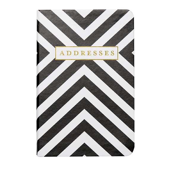 Sassy Chevron Black And White Address book - Tulle and Twig