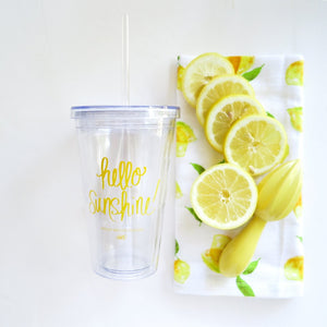 Hello Sunshine travel tumbler - Tulle and Twig
